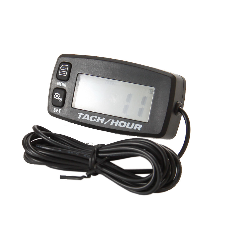 Digital Resettable Inductive Tacho Hour Meter Tachometer For Motorcycle Marine Boat ATV Snowmobile Generator Mower