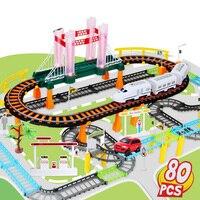 Игрушки для детей, набор электромобилей для железных дорог, игрушка для мальчиков, многослойная дорожка, развивающие игрушечные машинки
