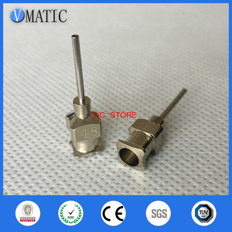 Free Shipping 0.5'' Tip Length 18G All Metal Tips Blunt Stainless Steel 12Pcs Glue Dispensing Needles 1/2 Inch