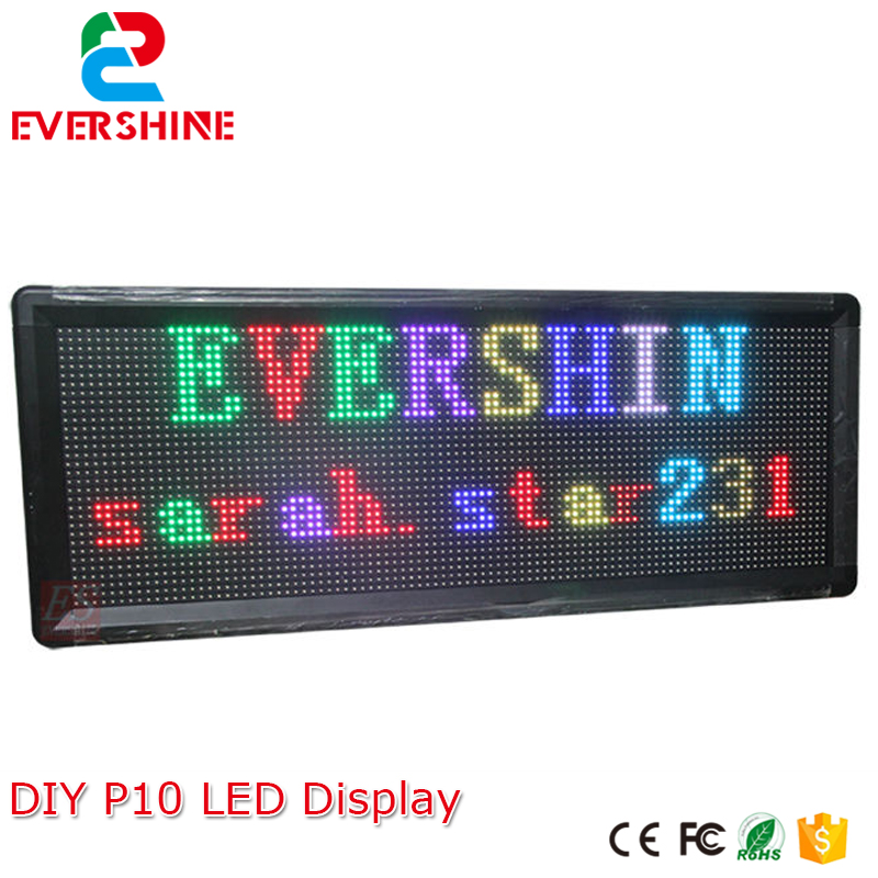 DIY RGB Full Color Store Window  LED Sign  Module 6 pcs+ 1PC power Supply + 1PC LED Controller +1set Frame diy kits p10 led display outdoor full color 20pcs 32 16pixel 320 160mm rgb module 5v 40a power supply 4pcs 1pcs control card