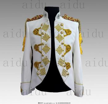luxury beading white/red short stage performance/dance/bar stuido tuxedo jacket ,only jacket