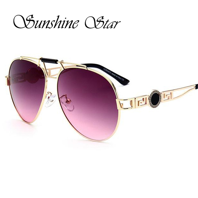 High Quality Aviator Sunglasses  sunshine star high quality aviator sunglasses women men brand