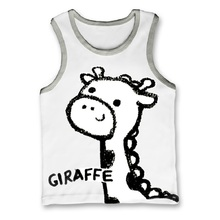 Muchachos del verano Singlet camisetas Tops de las muchachas Sin Mangas de Los Niños T-shirt bebé ropa animal tee shirt