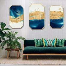 European style home decorative painting creative minimalist sofa background wall Triptych bedroom Flying bird elk