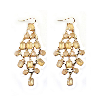 99CARATS Designer Fashion Jewelery New Style Gold Color Alloy Dangle Earrings for Women