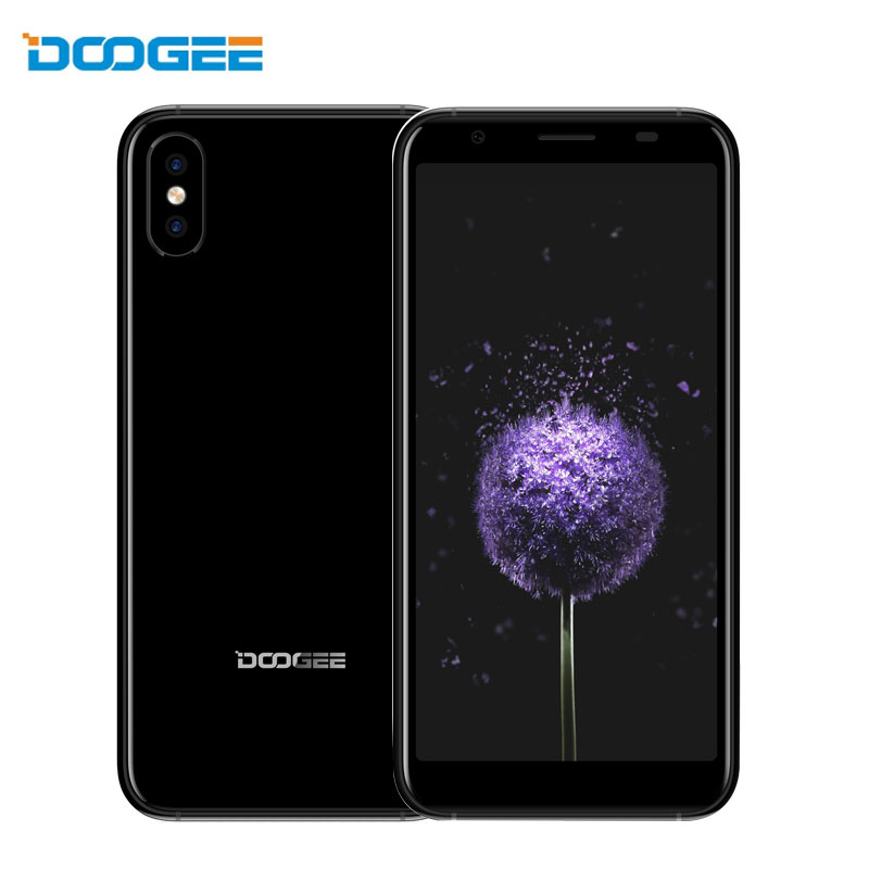 DOOGEE X55 Mobile Phone 1GB RAM 16GB ROM Android 7.1 Quad Core 2800mAh Quad Cameras 2x8.0MP+5.0MP 5.5 Inch 3G Cheap Smartphone
