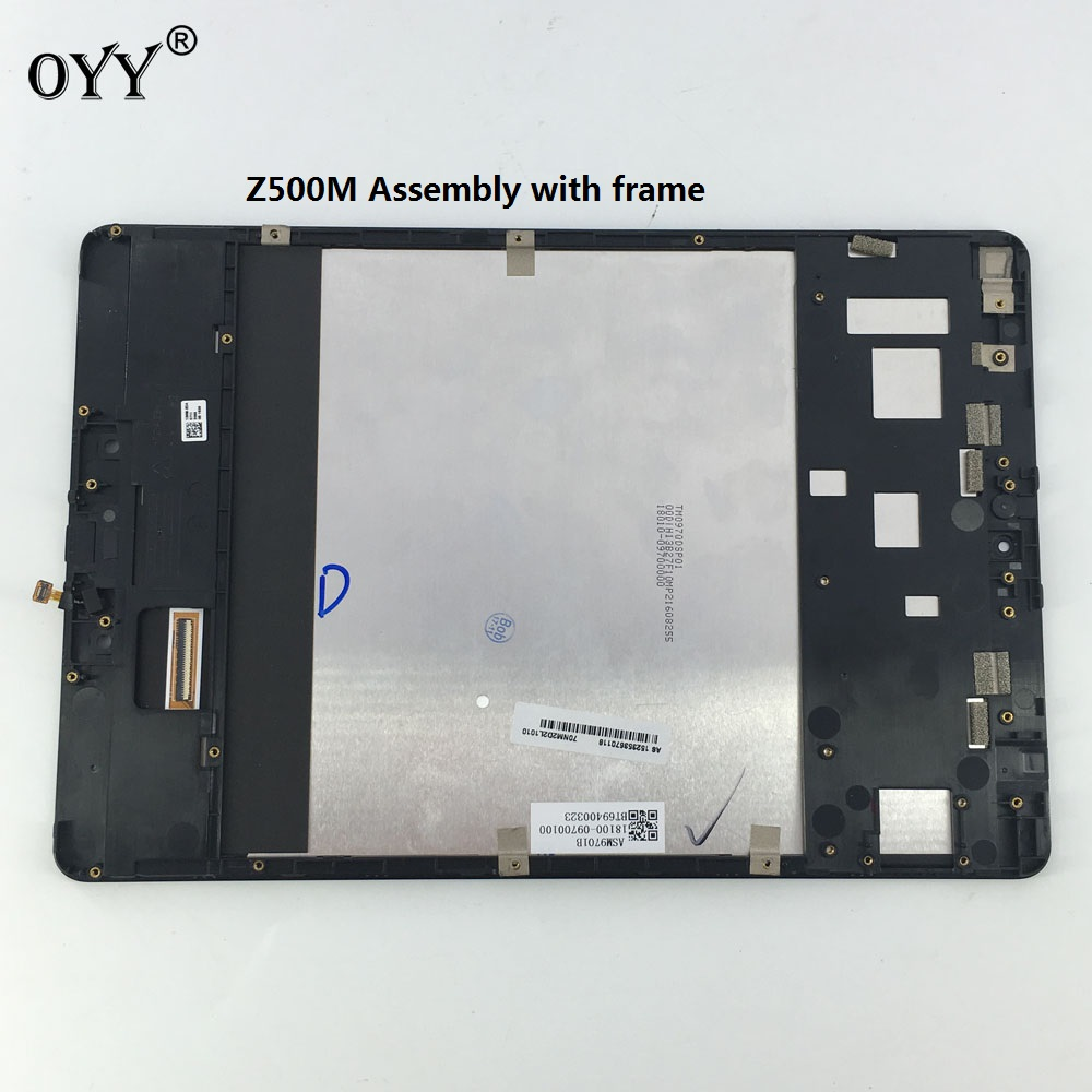 LCD Display Panel Screen Monitor Touch Screen Digitizer Glass Assembly with frame For ASUS ZenPad 3S 10 Z500M P027 free shipping touch screen with lcd display glass panel f501407vb f501407vd for china clone s5 i9600 sm g900f g900 smartphone