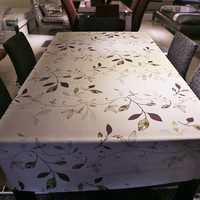 1.37m x 3m Flower Print Decorative Table Cloth Tablecloth Dining Table Cover For Kitchen Home Decor