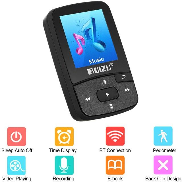 מיני 8 GB Bluetooth MP3 נגן HiFi Lossless קול מוסיקה נגן תמיכה פדומטר FM רדיו הקלטת זמן לוח שנה