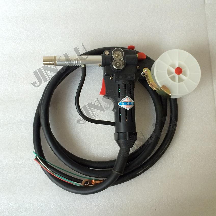 MIG 200A NBC-200 наконечник горелки линейный чертеж сварочный фонарь 2 м