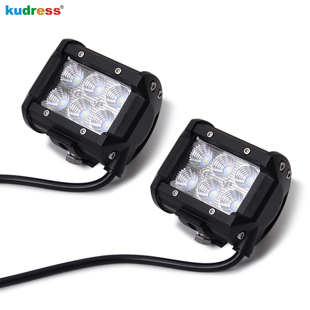 4inch 18W LED Work light Bar For Off Road 4x4 4WD ATV UTV SUV Motorcycle Truck Auto Tractor Boat Car Parts Daytime Running Light catuo 2017 4inch 18w led work light motorcycle tractor boat off road truck suv atv flood offroad fog lamp 12v work light