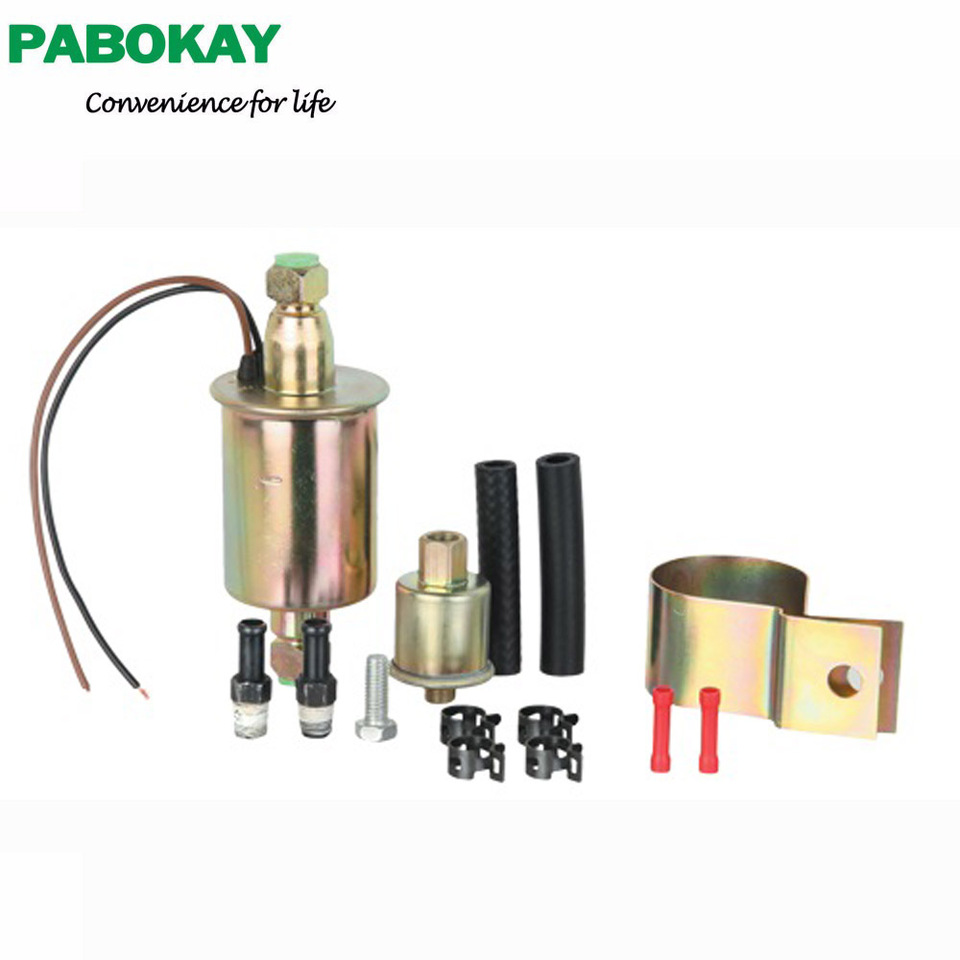 Universal Fuel Pump with Installation Kit 12V 3//8 Line 5-9 PSI E8090