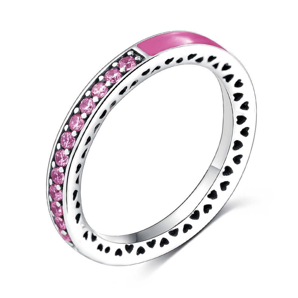 ... Лидер продаж серебро сияющее сердце из серебро, эмаль кольцо Pandora  для Для женщин с четкими ... f1aee89a3bf