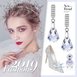 Image 5 - Boucles doreilles en argent Sterling Cdyle 925 ornées de boucles doreilles en cristal bijoux boucles doreilles géométriques