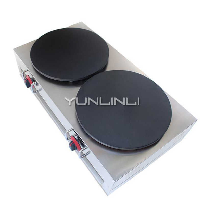 Commercial Double Crepe Maker Gas Burner Pancake Making Machine Gas Crepe Making Machine Pancake Maker NP-596 boy windbreaker 2018children s windbreaker coat in the long section of self cultivation in the korean version of children s wear