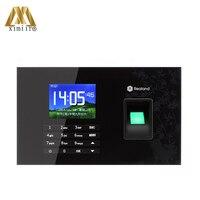 Biométrico de impressão digital tempo relógio tcp ip usb leitor cartão rfid e tela toque empregado sistema comparecimento do tempo A-C051 com p2p