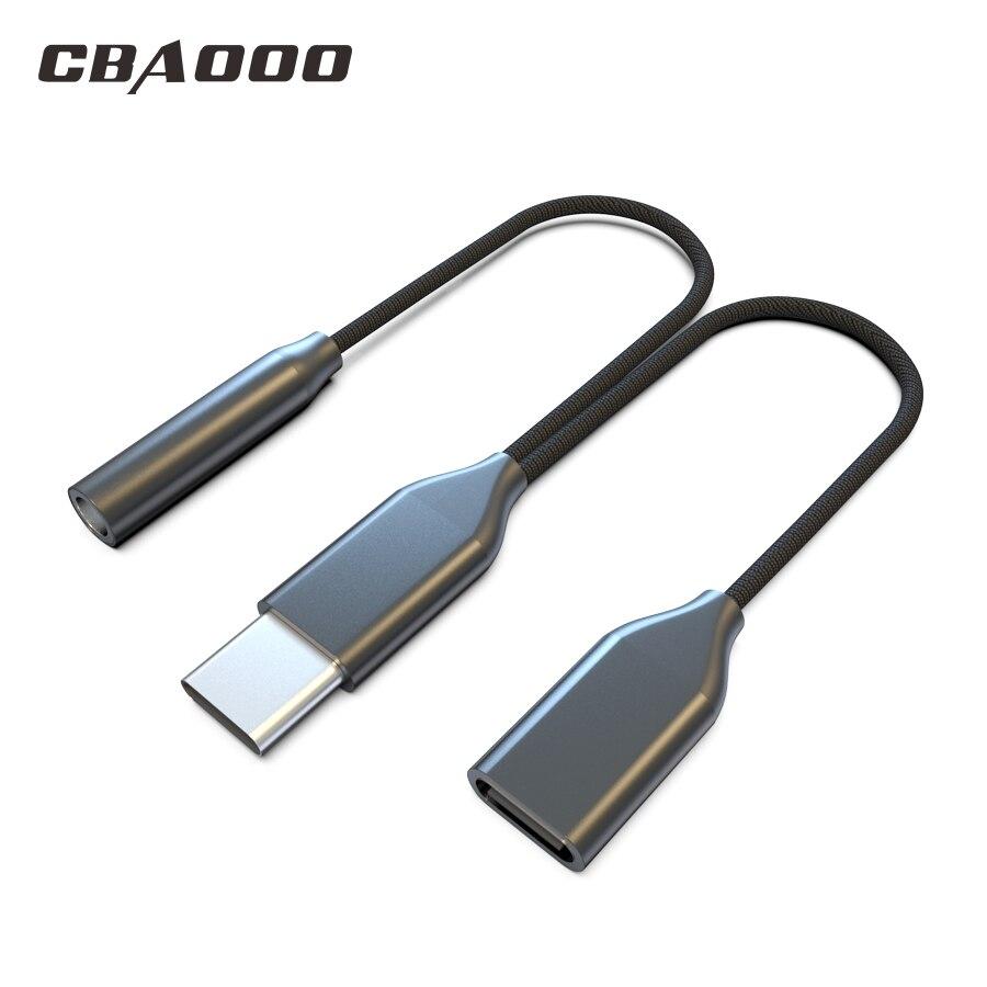 Type-C to 3.5mm Jack Converter Earphone Audio Adapter Cable Type USB C to 3.5 mm Headphone Aux Cable for Huawei P20 Lite Mate 20