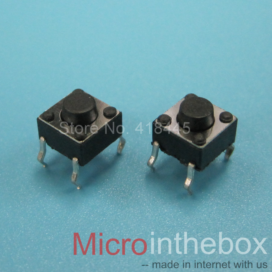 1000PCS LOT Tact switch 6x6 6x6x4 3 6x6x5 6 6 5 Normally closed default on DIP
