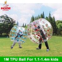 4 шт./лот 1 м ТПУ надувные тела Zorb бампер мяч Loopy Бал пузырь футбол пузырь Футбол Бурлящий шарик костюм