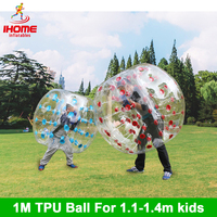 4pcs/lot 1m TPU Inflatable Body Zorb Ball Bumper Ball Loopy Ball Bubble Soccer Bubble Football Bubble Ball Suit
