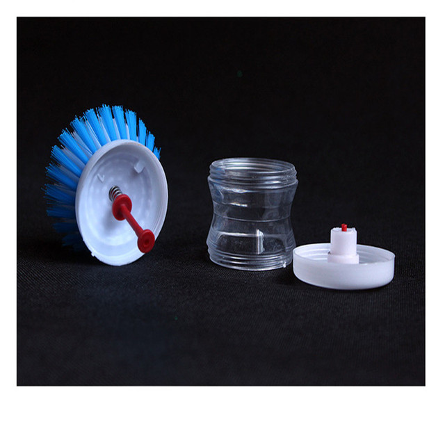 1Pcs Press The Liquid Washing Brush To Clean The Brush Kitchen Accessories Kitchen Gadgets Vegetable Brush Random Color. Q