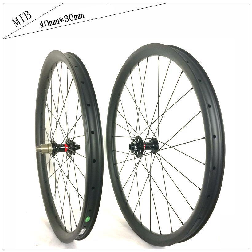 e762c5ec53 New!40mm *30mm all mountain carbon mountain bike wheel high quality 27.5er&650b  downhill bicicleta aro 29 disc brake mtb wheel