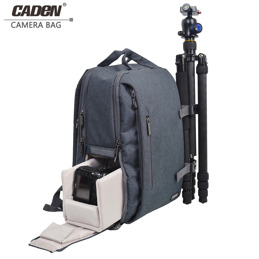 Caden shoulers camera video bags women men waterproof mochila fotografia dslr photography bag for nikon canon camera backpack