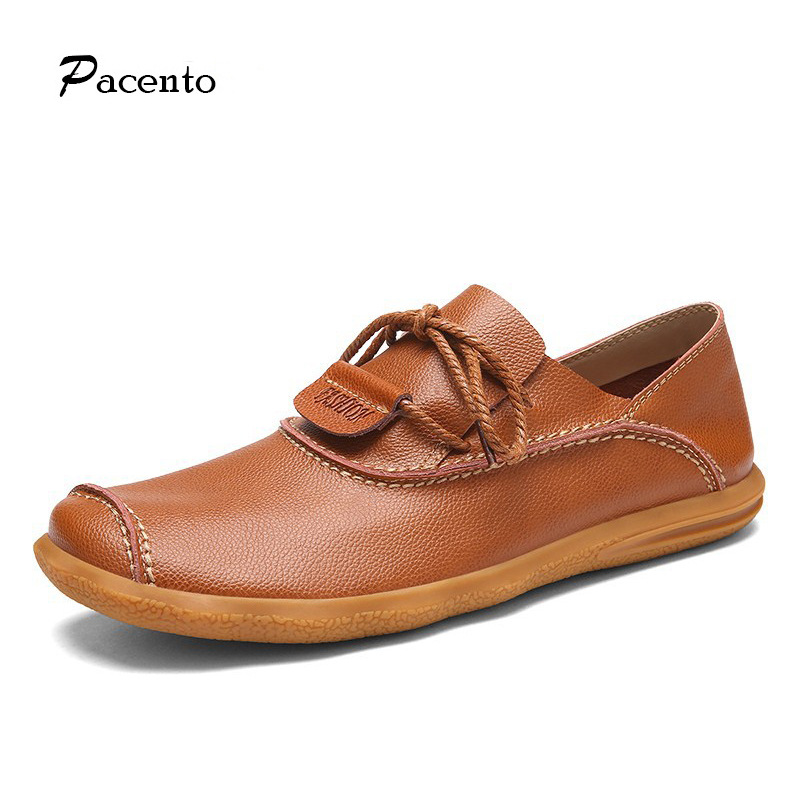 PACENTO Handmade Men Flats Shoes Genuine Leather Men Loafers Driving Shoe Classic Moccasins for Men Zapatillas Loafers Shoes cbjsho brand men shoes 2017 new genuine leather moccasins comfortable men loafers luxury men s flats men casual shoes