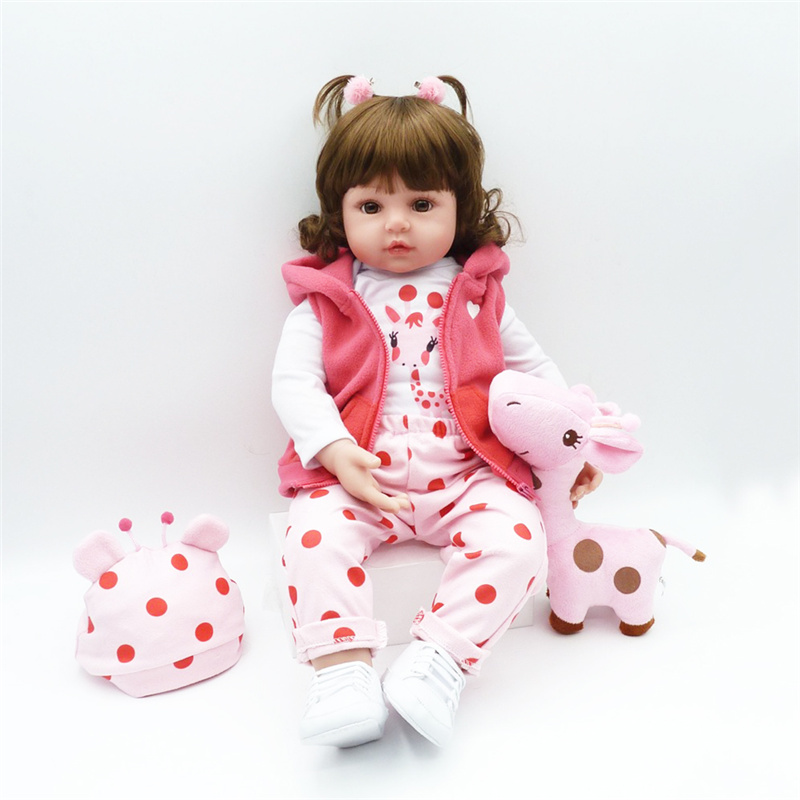 58 CM Lifelike Simulated Cotton Body Company Reborn Doll Toy58 CM Lifelike Simulated Cotton Body Company Reborn Doll Toy