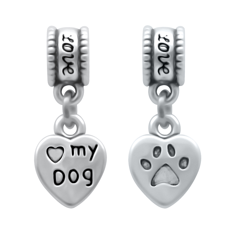 Wholesale 100 Pieces lot Animal Pet Lovely Dog Charms Fit Pandora Charm Beads Bracelet For Women Jewelry Making SPP217
