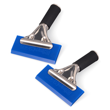 EHDIS 2pcs BLUEMAX Window Glass Water Wiper Ice Scraper Handled Rubber Squeegee Vinyl Wrap Tool Car Snow Shovel Cleaner Washer