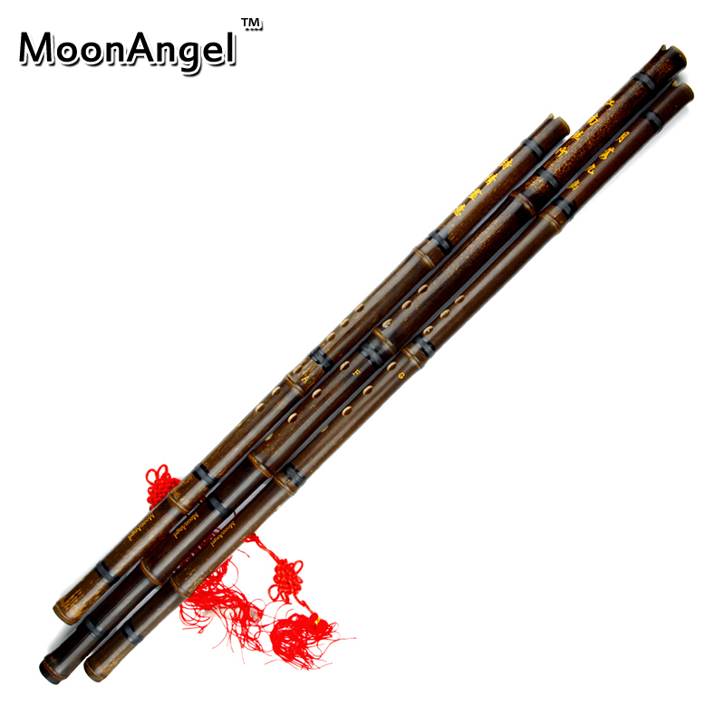 One set Chinese Bamboo Flute Xiao Purple Bamboo With Chinese Knot And Bag
