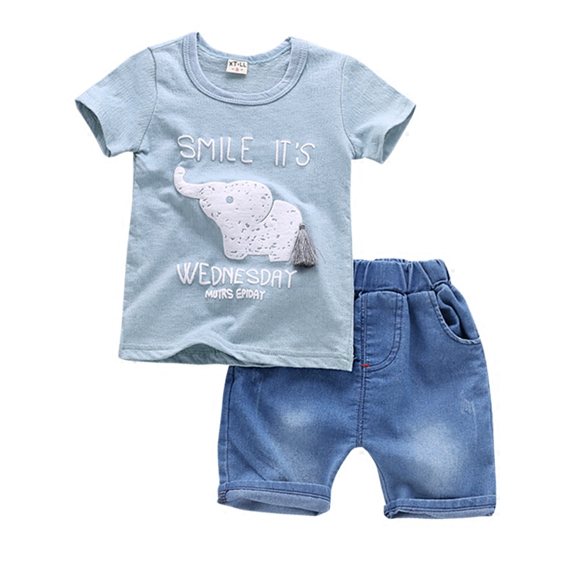 BibiCola Summer Baby Boys Clothing Set Children Boys Clothing Tops+Shorts Pants 2pcs Set Kids Tracksuit For Boys Baby Clothes new tops pants toddler girl clothing summer children clothes set baby boys girls tracksuit kids cloth kids hip hop clothing