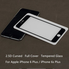 Full Cowl 2.5D Curved 9H Anti-Burst 100% Tempered Glass Display Protector Protecting Movie For iPhone 6 Plus iPhone 6s Plus