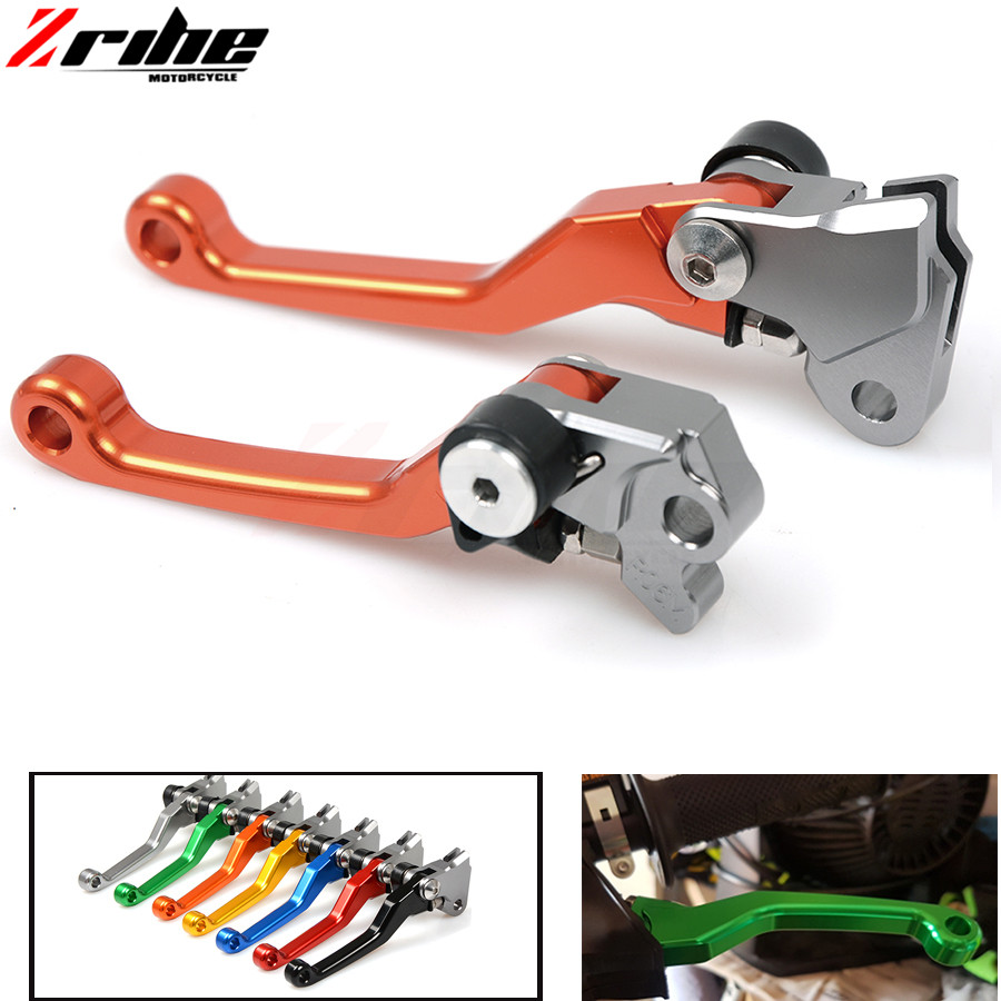 CNC brake clutch lever motorcycle One Pair CNC Pivot Brake Clutch Levers for ktm 450SX 450SX-F 450SX-R 200XC-W 200EXC 2005-2008