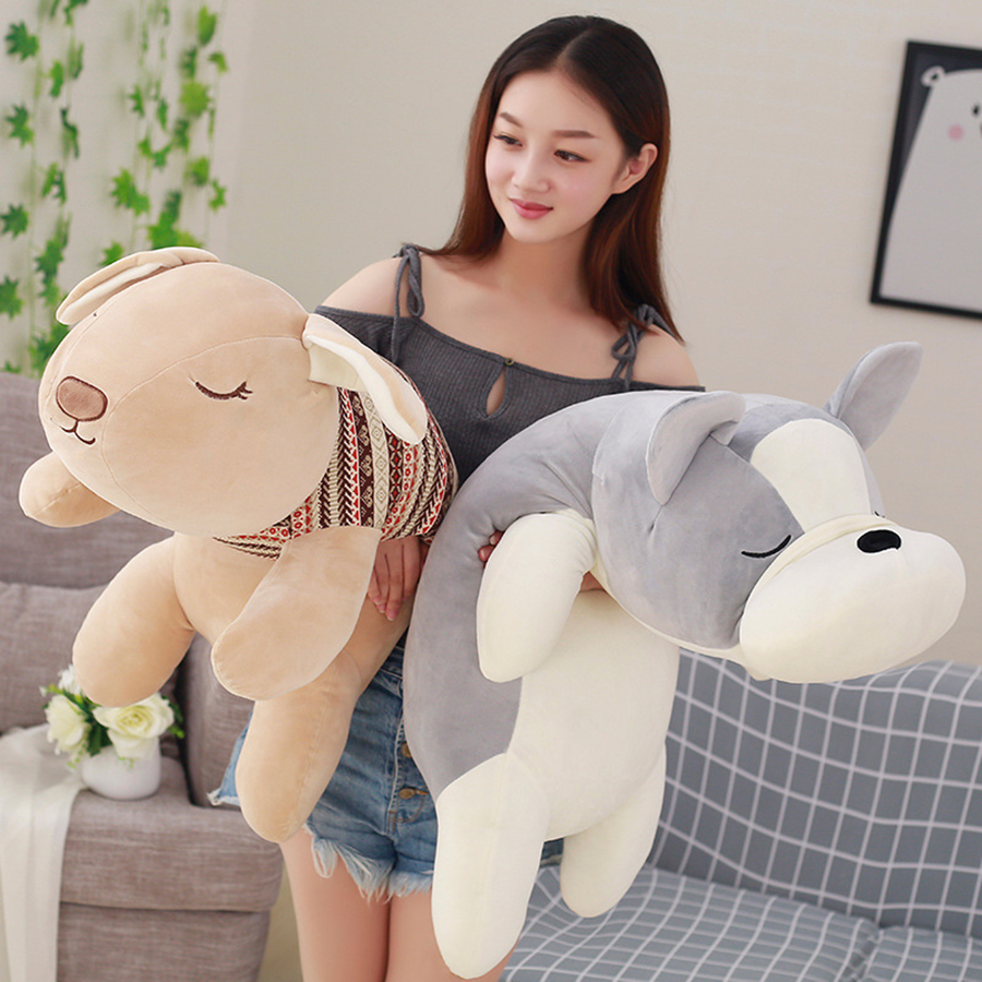 Plush Dog Toys Puppy Doll Rabbit Bunny Pillow Plush Toy Pillows Stuffed Animals Cushion Brinquedo Menina Gifts Cojines 50T0245 stuffed animal 120 cm cute love rabbit plush toy pink or purple floral love rabbit soft doll gift w2226