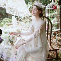 Chinoiserie lynette's lato oryginalny design kobiet wysokiej jakości druk cyfrowy jedwabny szyfon faux flare rękawem luźne świeże sukienka