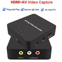 Analog AV Recorder old video tape camcorder VHS VCR DVD Games Plays Hi8 video capture to digital format SD Card AV HDMI Out