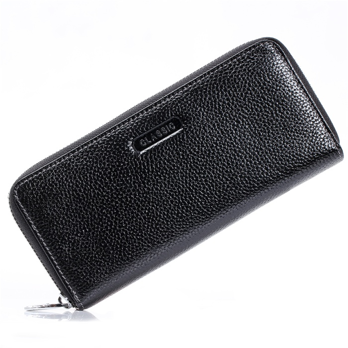 Fashion Womens Mens Black Real Genuine Leather Zipper Handbag Wallet Long Day Clutches Female Lady Coin Purse Card Holder bags bemoreal genuine leather women wallets lady clutches card holder female zipper wallet fashion brand coin keeper sweet long purse