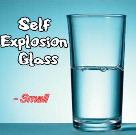 5pcs Self Explosion Glass (Small,H10.5cm*Dia6.7cm) Magic Tricks For Professional Magician Glass Breaking Trick Stage Mentalism