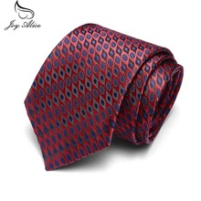 цена на 7.5cm Width Men Ties New Plaid Neckties Corbatas Gravata Jacquard Woven Slim Tie Business Wedding Stripe Neck Tie For Men
