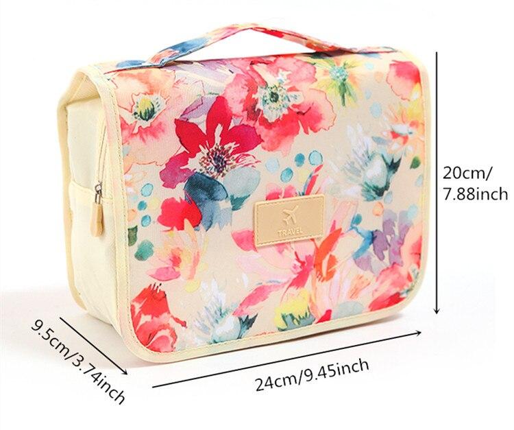 Товар Women Zipper Hanging Cosmetic Toiletry Bags Toiletry Organizer ... adf433b358fc1