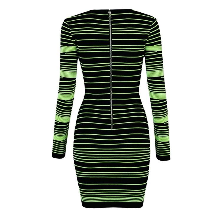 À Tricoté Designer Robe Qualité Sexy Longues Top De 2019 Fête Vert Lacée Élégant Jacquard Tenue Manches Evf74n7q