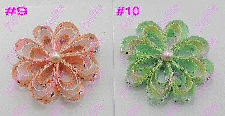 60 шт 2,5 ''loopy Цветочные Заколки красивый лепесток цветок клип смешанный цвет волос лук