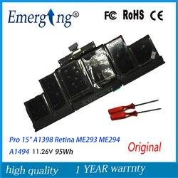 11.26V 95Wh Echte Originele Nieuwe A1494 Laptop Batterij Voor Apple Macbook Pro 15 A1398 Retina Late 2013 Mid 2014 ME293 Met Tool