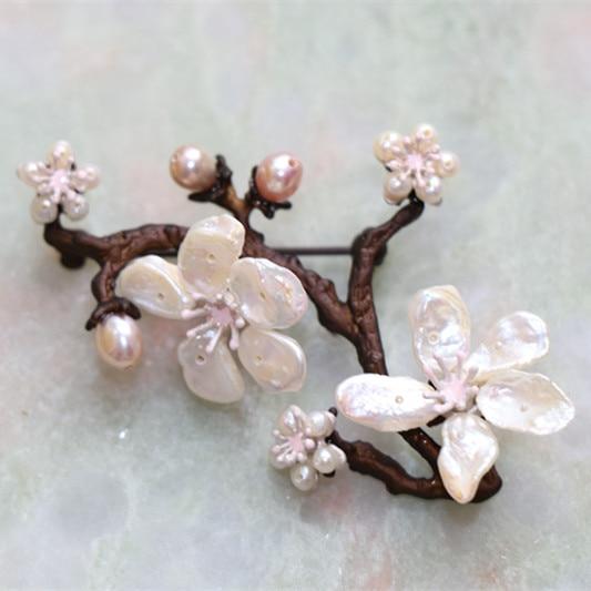 Գեղեցիկ բալի ծաղկի պղնձի լակի նկարել - Նորաձև զարդեր - Լուսանկար 3