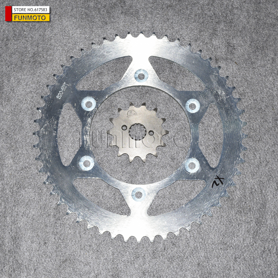 52 TEETH BIG SPROCKET AND 14 TEETH PINION AND BOLTS SUIT FOR SHINERAY 250GY-02 OR XINYUAN 250GY-2 X2X MOTORCYCLE /DIRT BIKE аксессуары для шитья xinyuan square diy