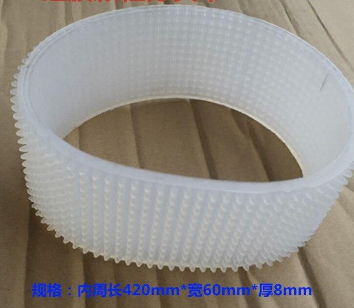 Périmètre: 420mm largeur: 60mm épaisseur: 8mm Pagination machine ceinture convoyeur ceinture silicone friction type de séparation machine