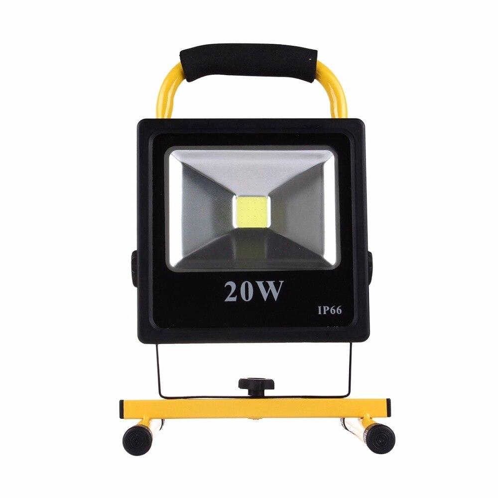 10 Вт перезаряжаемый светодиодный прожектор тонкий IP66 Водонепроницаемый портативный фонарь светодиодный прожектор Открытый стены Освещен...