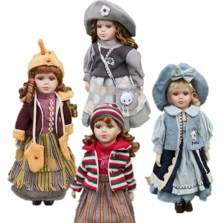 2019 News 40CM European Style Victoria Style Russia Ceramic Classical Doll Noble Porcelain Doll High Quality Toy Gift For Girl 8